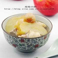 苹果川贝鸡汤