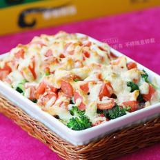 鳕鱼芝士鲜蔬饭