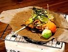 松茸豆腐朴叶烧