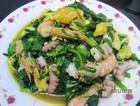 韭菜海鲜小炒