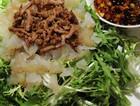 肉丝海蜇拌苦苣