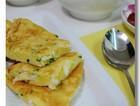 银鱼鸡蛋饼与菜泡饭