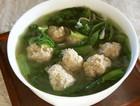 小白菜丸子汤