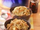 青椒榨菜肉丝煲仔饭