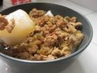 榨菜肉末蒸肠粉