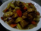 土豆红咖喱焖鸭腿