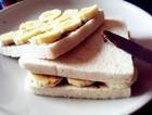 香蕉榛子酱三明治