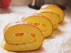 舒芙蕾黄桃奶油蛋糕卷