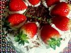 草莓装饰蛋糕(戚风)