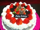 华丽丽草莓生日蛋糕