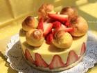 法式草莓泡芙蛋糕