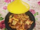 塔吉锅无油辣白菜炒年糕