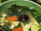 鸡汤荠菜面片汤