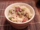 电饭煲焖饭之豌豆香肠饭
