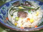 杂蔬腊肠焖饭