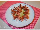 红香肠炒洋葱