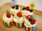 清新莓果奶油cupcake