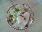 凉薯辣椒炒肉片