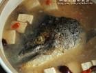 快手养生三文鱼头豆腐汤