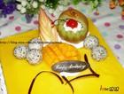 芒果芝士装饰蛋糕