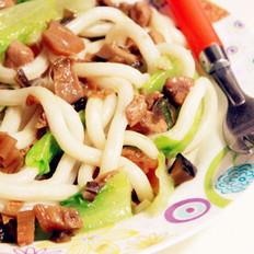 香菇肉酱拌乌冬面