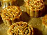 广式豆沙麻薯月饼