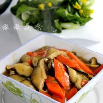 蚝香胡萝卜鲜菇片