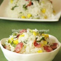 腊肠焖米饭