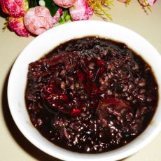 香糯红枣紫米粥