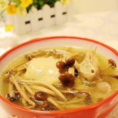 茶树菇炖鸽子汤