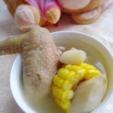 玉米淮山煲鸡汤