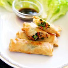 韭菜肉丝春卷