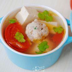 番茄豆腐丸子汤
