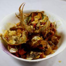 牡蛎红烧蟹