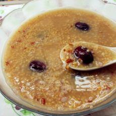 小米燕麦红枣粥