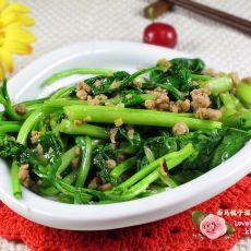 肉末白菜苔