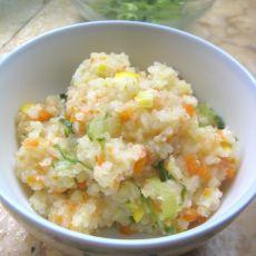 玉米胡萝卜土豆鲜虾稀
