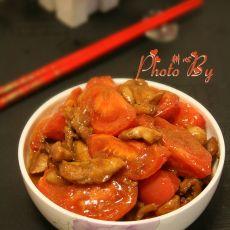 鸡腿肉炒番茄
