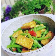 剁椒茼蒿炒豆腐