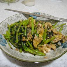 虾酱炒茼蒿
