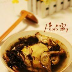 发菜鸽子汤