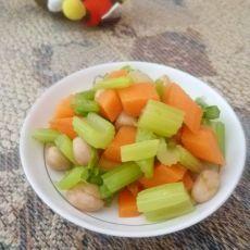 凉拌芹菜花生米