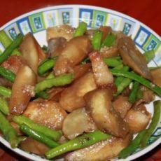 豆角茄子炒猪肉