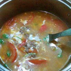番茄牛肉蛋花汤