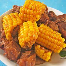 红烧排骨炖玉米