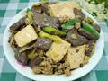 家常小菜肉末红白豆腐