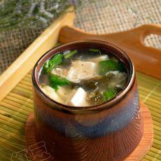 虾皮紫菜豆腐羹