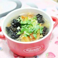 黑木耳鸡蛋柿子汤