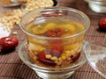 红枣菊花炒麦茶