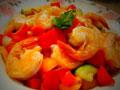 五彩椒盐虾